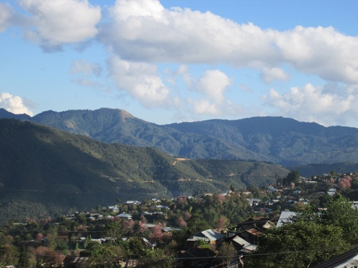 View over Ukhrul town today.